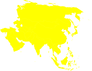 asian-continent-yellow-clip-art